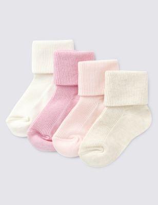 4 Pack of Baby Socks (0-24 Mths)