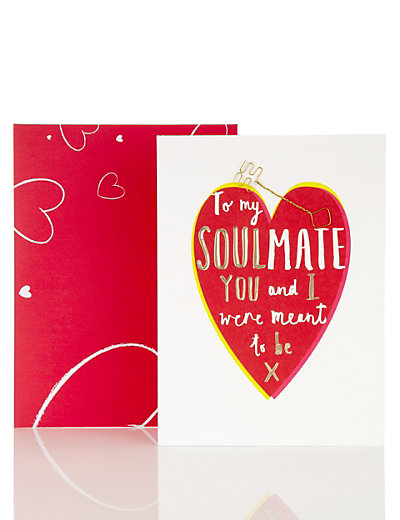 soulmate valentine's day card | m&s, Ideas