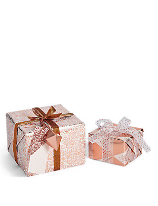 Hollywood set of 2 luxury rose gold christmas wrap pack ms negle Image collections