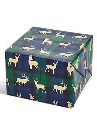Joyeux noel blue green tartan 3m christmas wrapping paper ms negle Image collections