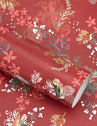 Single sheet feast floral wrapping paper ms negle Image collections