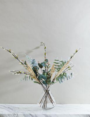 Set of 3 Artificial Eucalyptus Single Stem