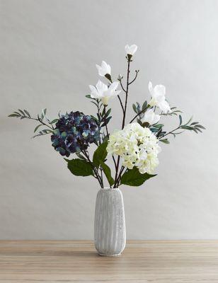 Set of 2 Artificial Magnolias Single Stem