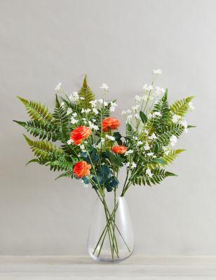 Set of 2 Artificial Wild Wax Flowers