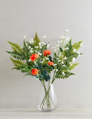 Set of 3 Artificial Ranunculus Single Stems