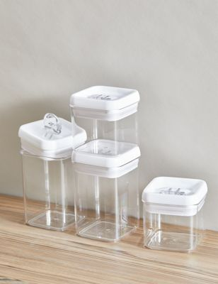Set of 4 Flip-Tight Stackable Storage