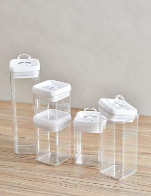 Set of 5 Flip-Tight Stackable Storage