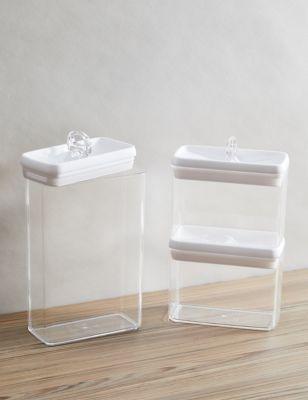Set of 3 Flip-Tight Stackable Storage