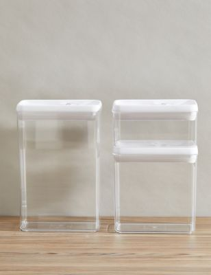 Set of 3Flip-Tight Stackable Storage