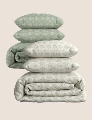2 Pack Cotton Mix Floral Bedding Sets