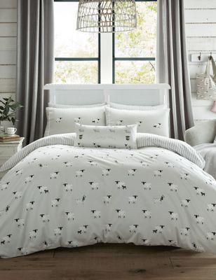 Pure Brushed Cotton Sheep Bedding Set