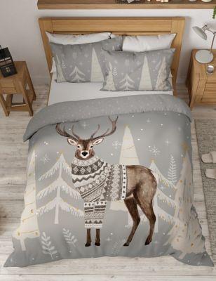 Cotton Rich Winter Stag Bedding Set