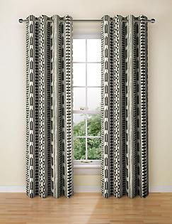 T47/2288: Tribal Print Curtain
