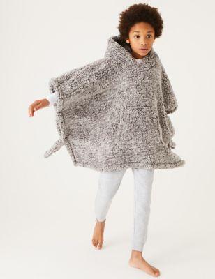 Teddy Fleece Kids' Hooded Blanket