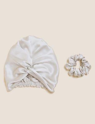 Pure Silk Wrap and Scrunchie Set