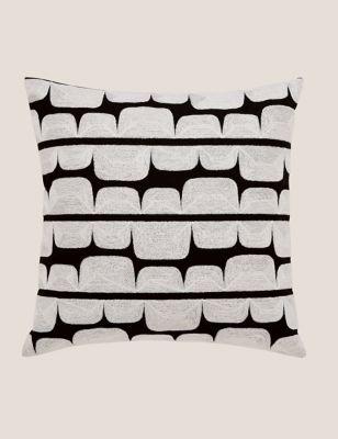Pure Cotton Kivi Embroidered Cushion