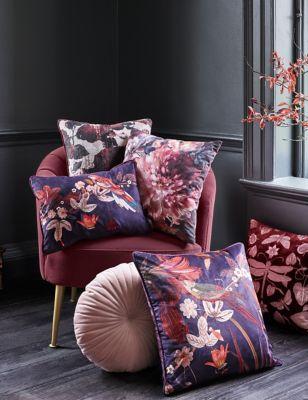 Floral Jacquard Cushion