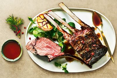 M&S Rack of Venison with a Rich Game Jus