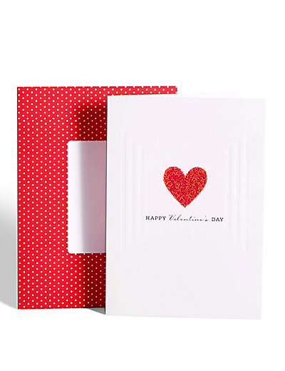 hundreds & thousands love heart valentine's day card | m&s, Ideas