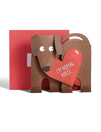 fun fold-out dachshund valentine's day card | m&s, Ideas