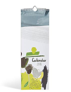 Contemporary Abstract 2018 Slim Calendar, , catlanding