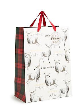 Stag Large Christmas Gift Bag, , catlanding