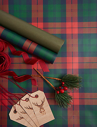 Tartan christmas luxury wrap pack ms negle Image collections
