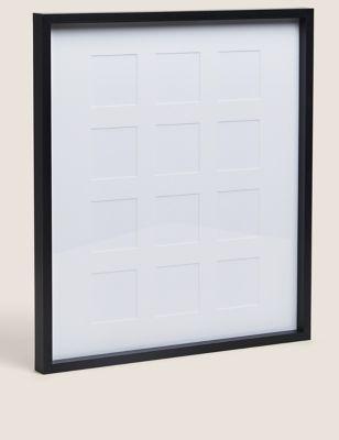 12 Aperture Wood Photo Frame