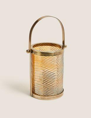 Textured Brass Medium Lantern