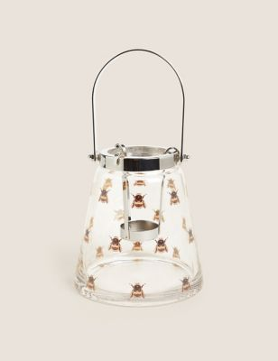 Glass Bee Medium Lantern