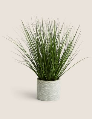 Artificial Grass in Geometric Pot