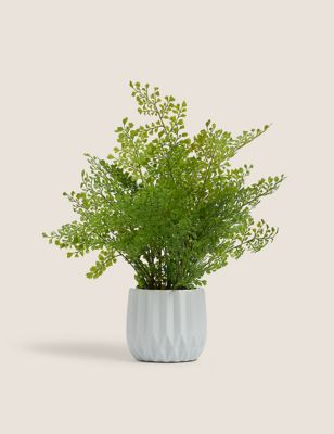 Artificial Large Fern In Ceramic Pot