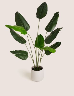 Artificial Floor Standing Banana Leaf Plant