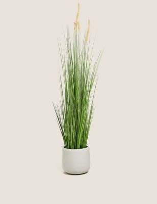 Artificial Floor Standing Foxtail Grass Pot