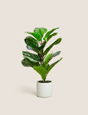 Artificial Small Fig Leaf Tree in Pot