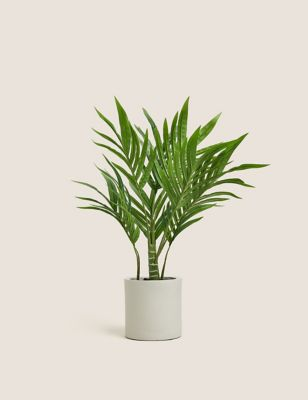 Artificial Medium Palm in Concrete Pot