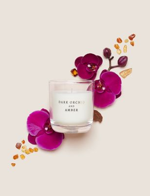 Dark Orchid & Amber Candle