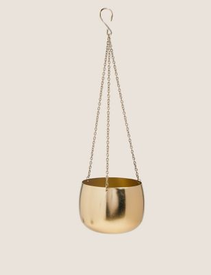 Small Gold Hanging Planter