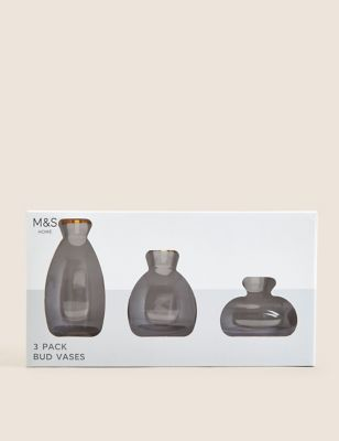 3 Pack Small Bud Vases