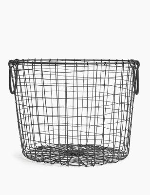 Wire Round Storage Basket