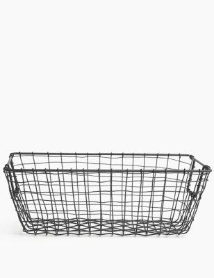 Wire Rectangular Storage Basket
