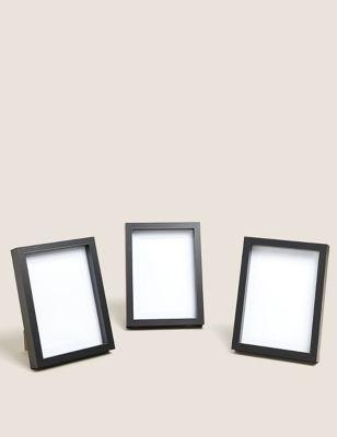 Set of 3 Wood Photo Frames 4x6 inch