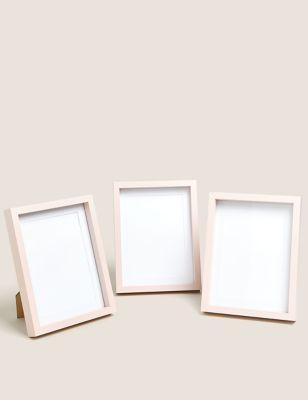 Set of 3 Wood Photo Frames 5x7 inch
