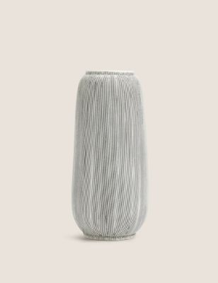 Large Linear Striped Vase