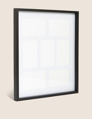 7 Aperture Wood Photo Frame 4x6 inch