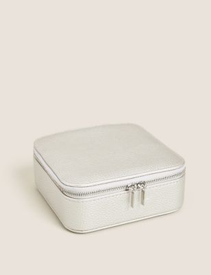 Faux Leather Square Jewellery Box