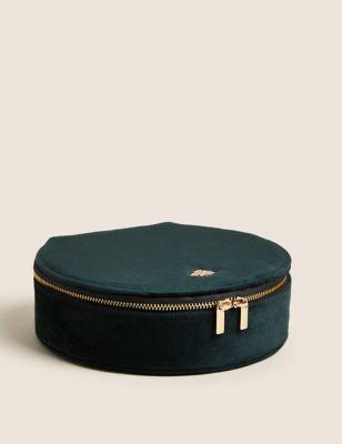 Velvet Round Jewellery Box
