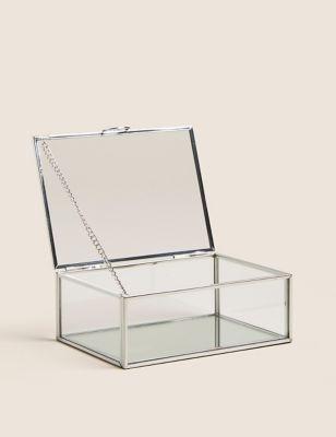 Small Glass Jewellery Box