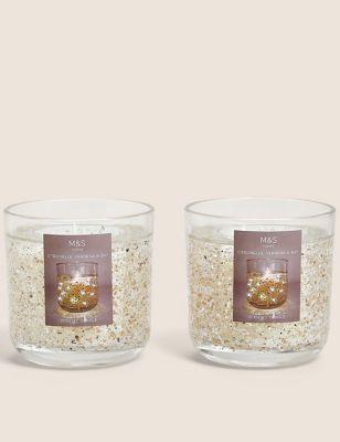 Set of 2 Citronella Medium Light Up Candles