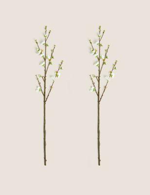 Set of 2 Artificial Blossom Single Stems